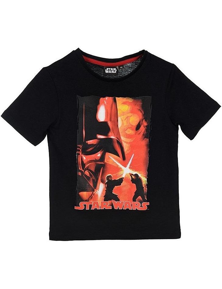 Star wars čierne chlapčenské tričko vel. 116