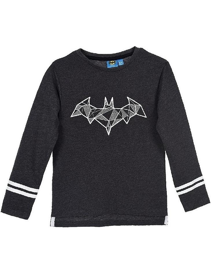 Batman tmavo sivé chlapčenské tričko s dlhým rukávom vel. 104