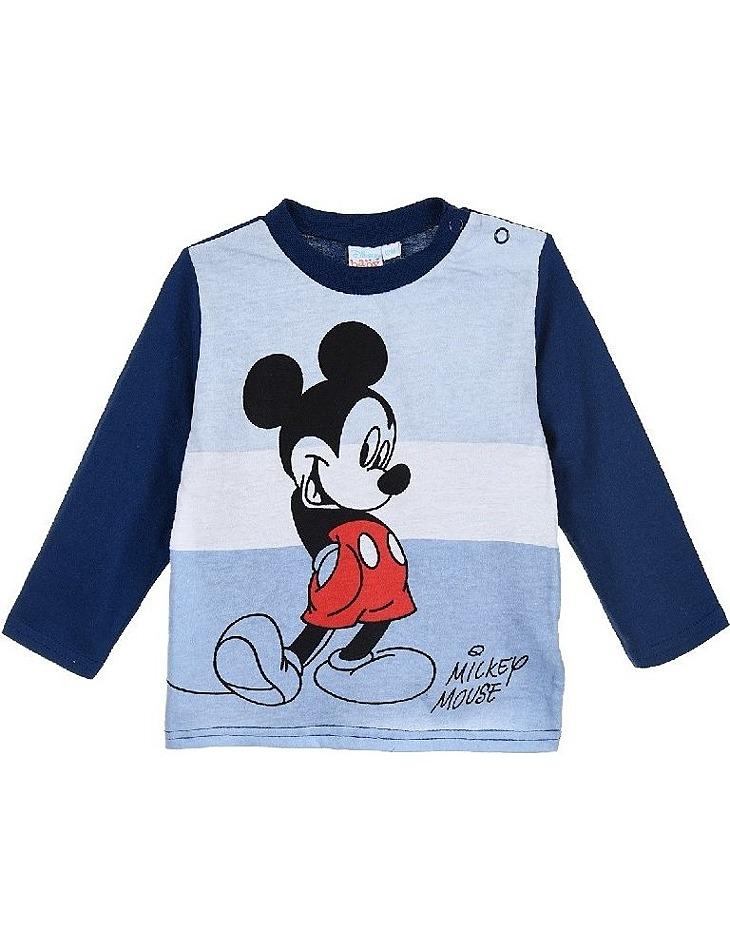 Mickey mouse modré chlapčenské tričko s dlhým rukávom vel. 67