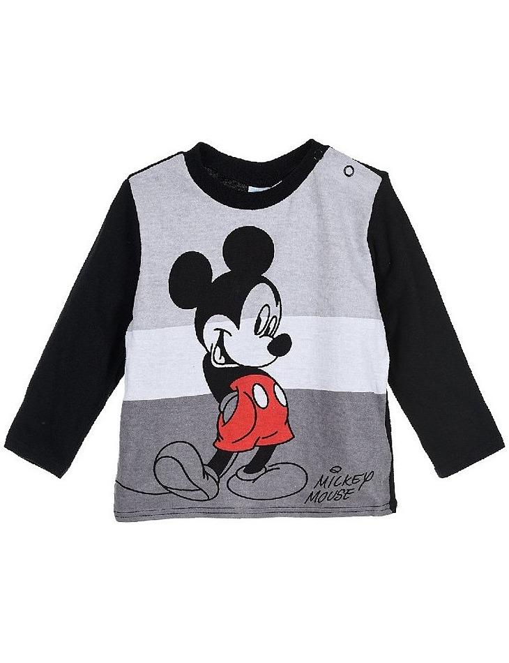 Mickey mouse čierne chlapčenské tričko s dlhým rukávom vel. 67