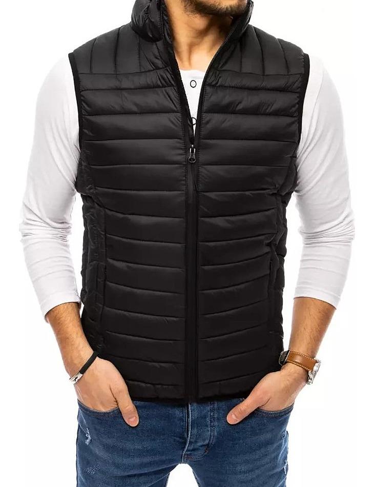 čierna pánska prešívaná vesta vel. 2XL