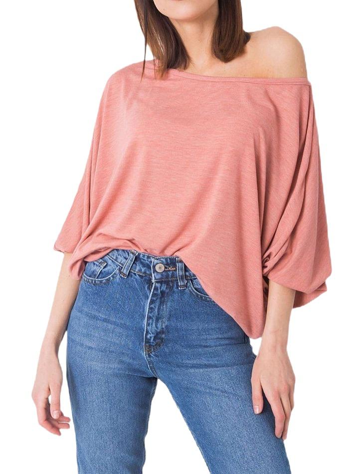 Ružové dámske voľné tričko vel. XL