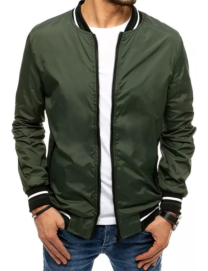 Zelená pánska ĺahká bunda vel. XL