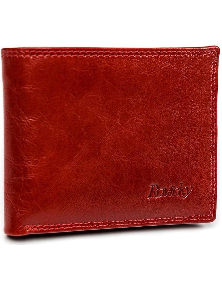 Pánske červené kožené puzdro na doklady rovicky vel. ONE SIZE