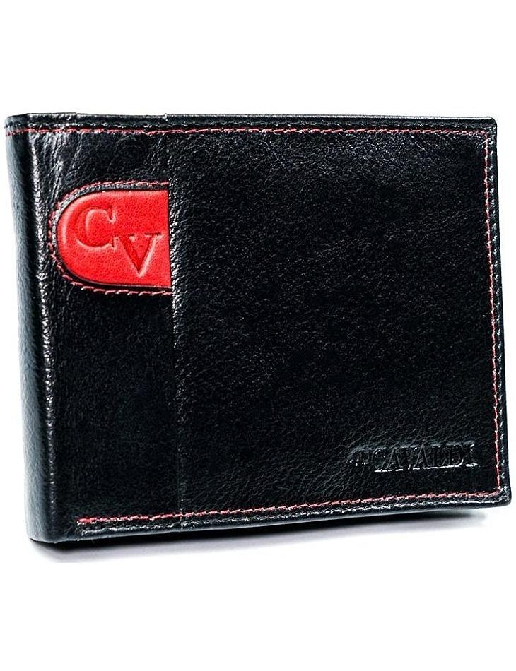 Cavaldi® čiernočervená pánska kožená peňaženka vel. ONE SIZE