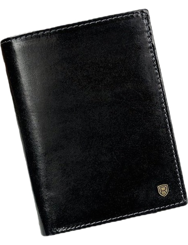 Pánska kožená čierna peňaženka vel. ONE SIZE