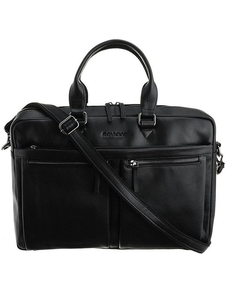 Rovicky® čierna kožená taška na notebook vel. ONE SIZE