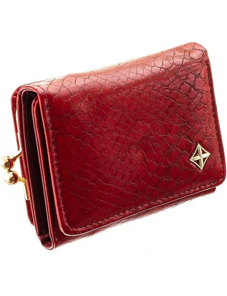 Milano design tmavo červená dámska peňaženka vel. ONE SIZE