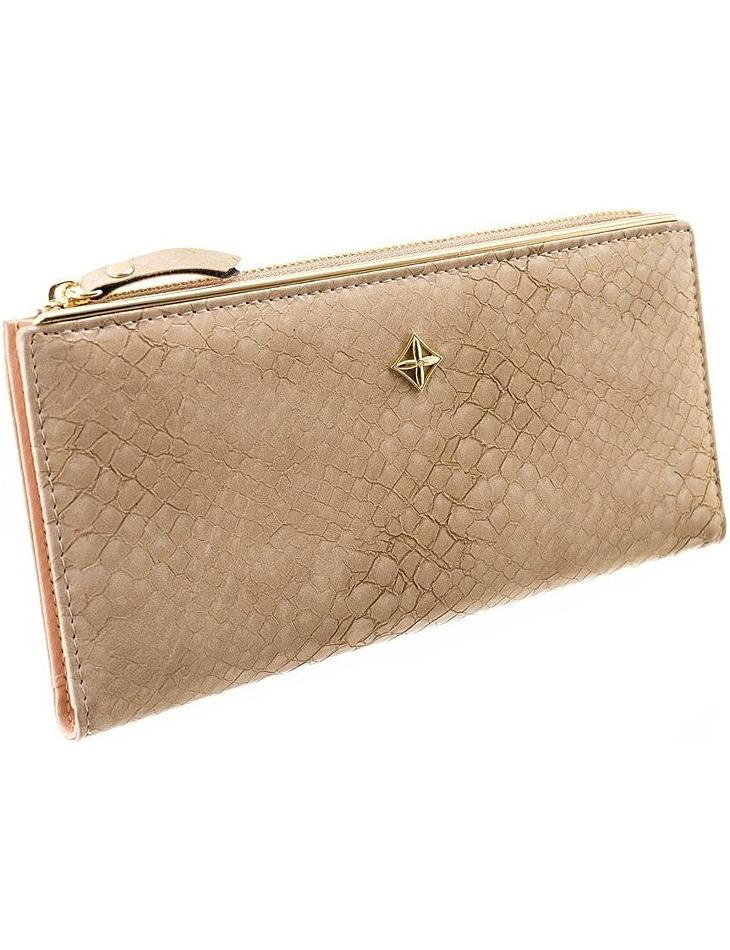 Milano dizajn béžová dámska peňaženka vel. ONE SIZE