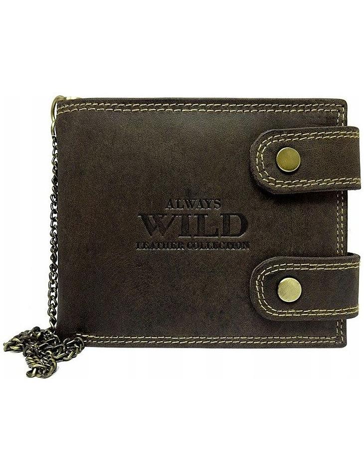 Always wild hnedá pánska peňaženka vel. ONE SIZE