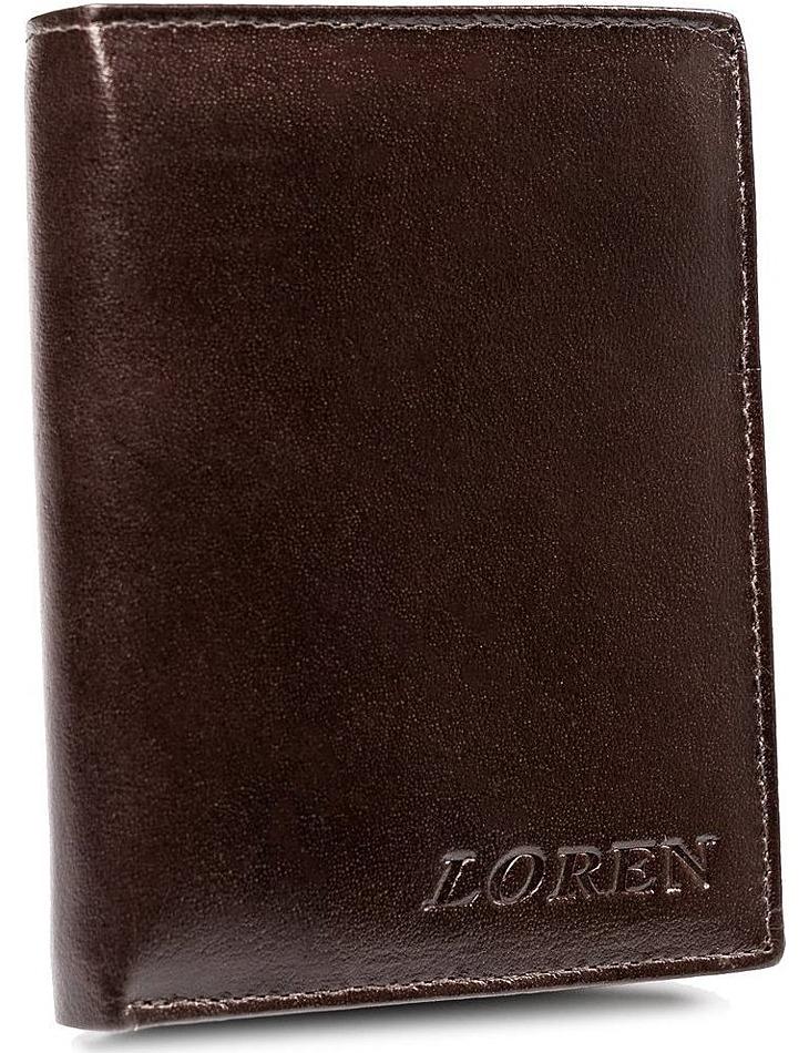 Loren pánska lesklá hnedá peňaženka z kože vel. ONE SIZE