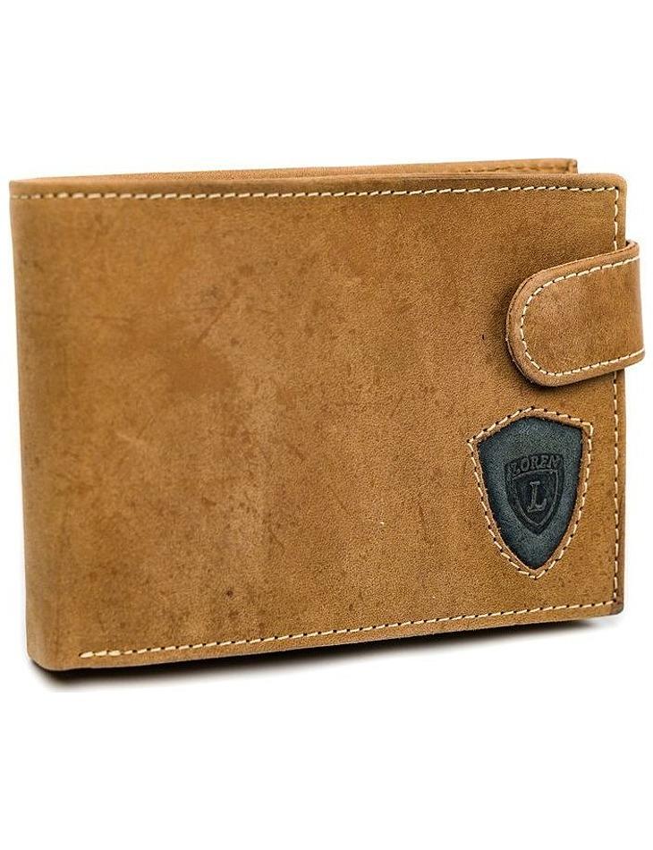Loren® hnedá pánska kožená peňaženka vel. ONE SIZE