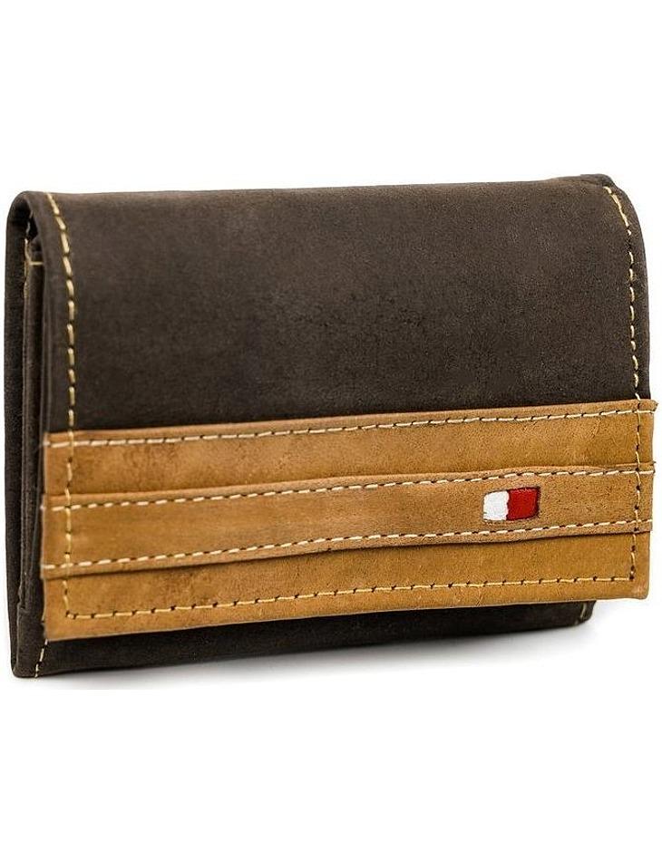 Always wild® hnedá pánska kožená peňaženka vel. ONE SIZE