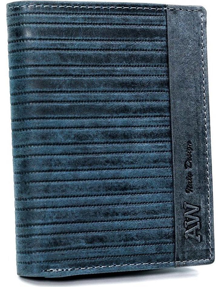 Always wild® modrá pánska kožená peňaženka vel. ONE SIZE