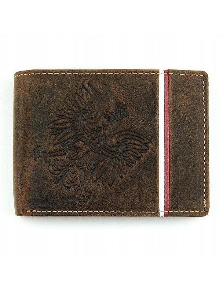 Hnedá pánska peňaženka z prírodnej kože vel. ONE SIZE