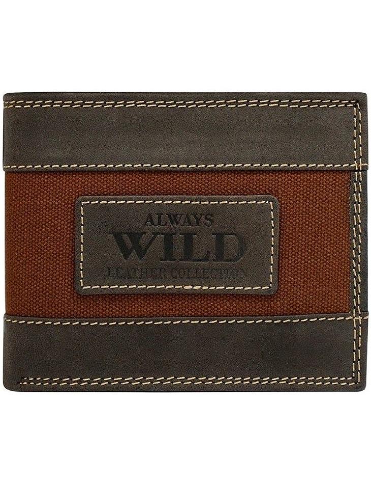 Always wild originálne hnedá peňaženka vel. ONE SIZE