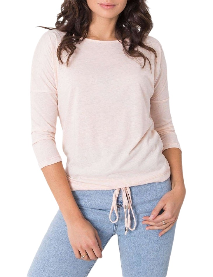Ružové tričko s viazaním vel. M