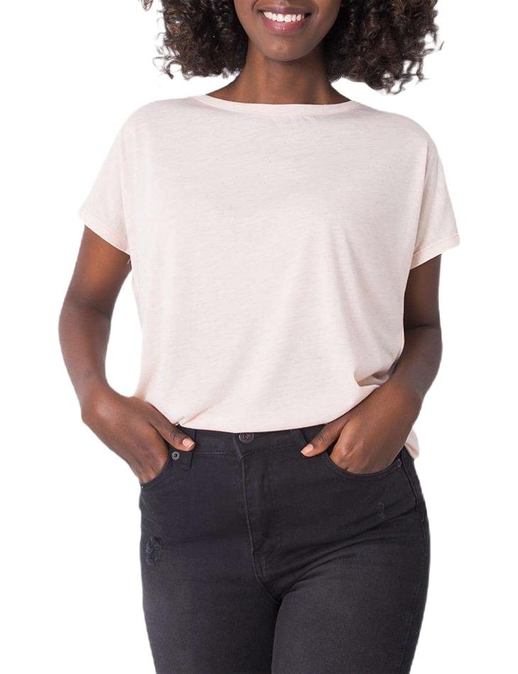 Svetlo ružové tričko s výstrihom na chrbte vel. M