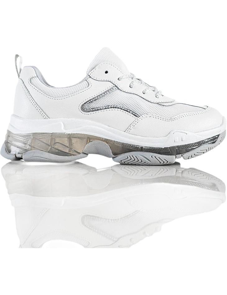 Biele kožené tenisky na platforme vel. 40