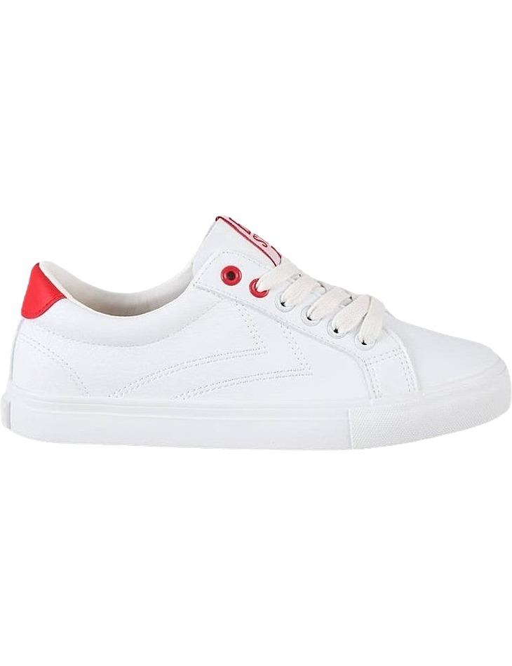 Big star biele dámske tenisky s červenými detailmi vel. 37