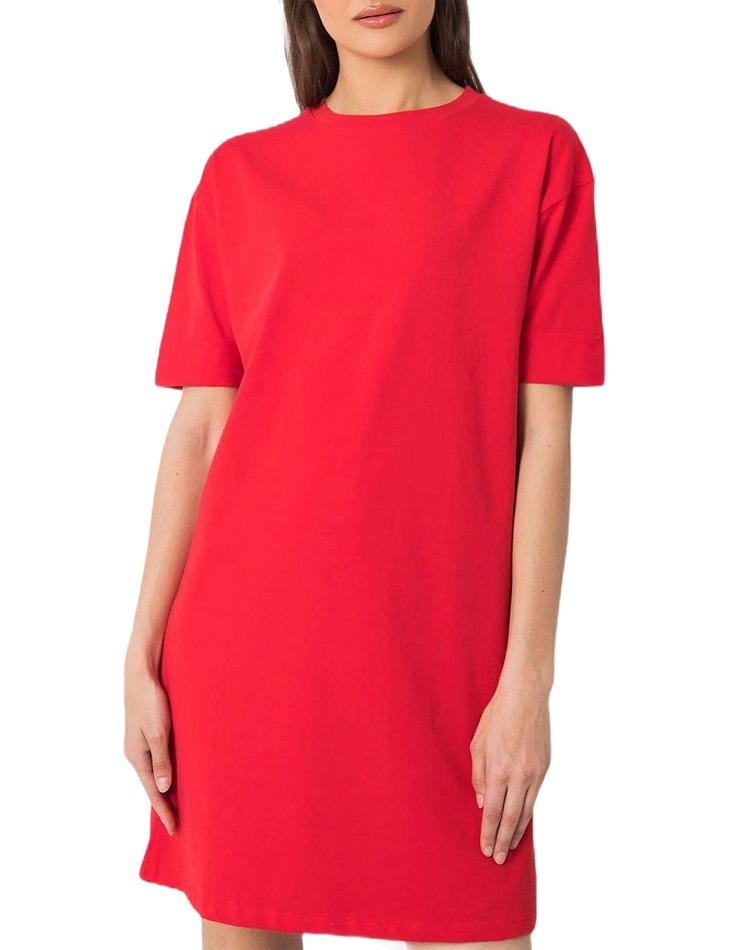 červené basic šaty vel. L