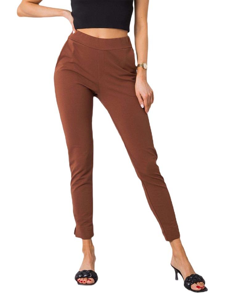 Hnedé dámske nohavice vel. XL