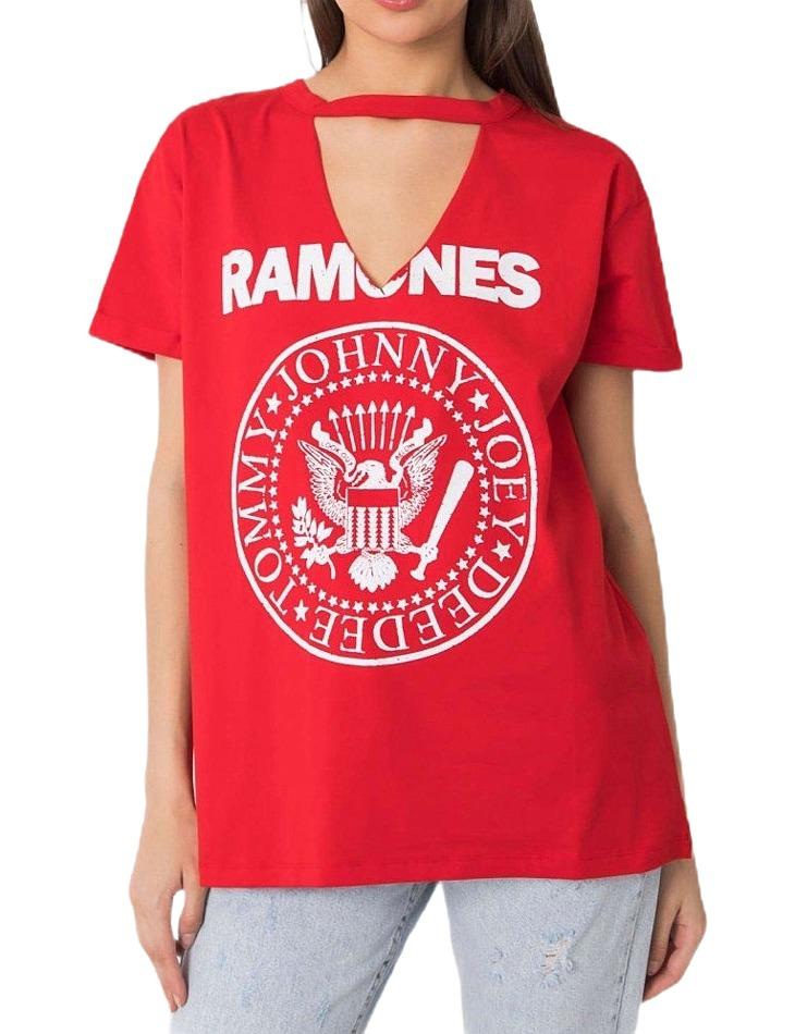 červené tričko ramones vel. ONE SIZE