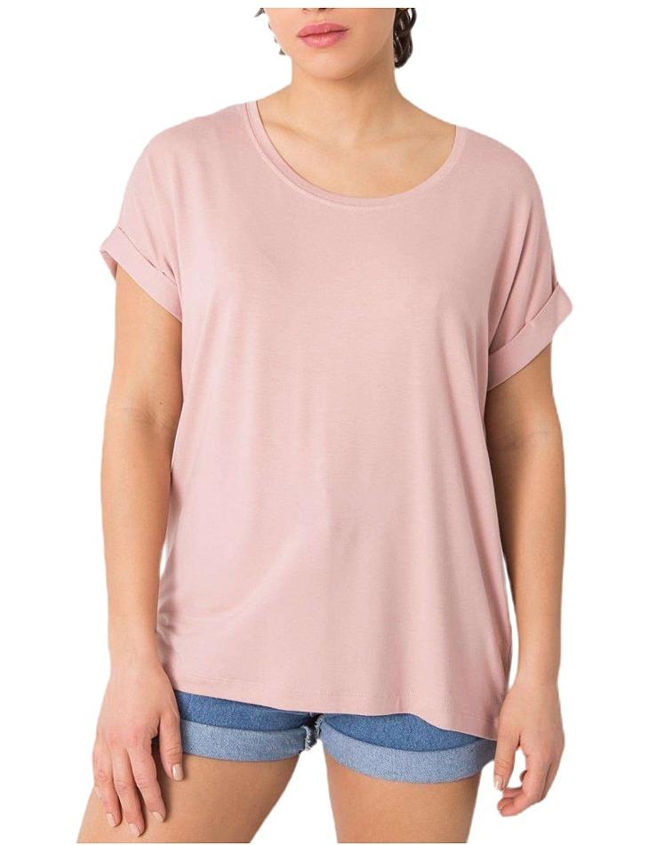 Ružové dámske basic tričko vel. XL