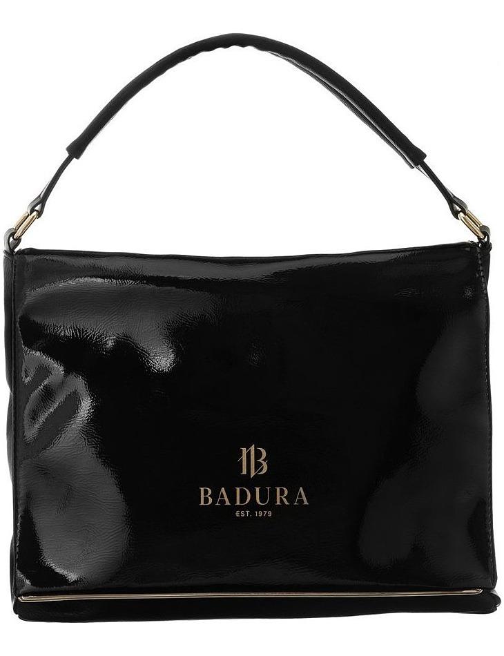Badura čierna lesklá elegantná kabelka vel. ONE SIZE