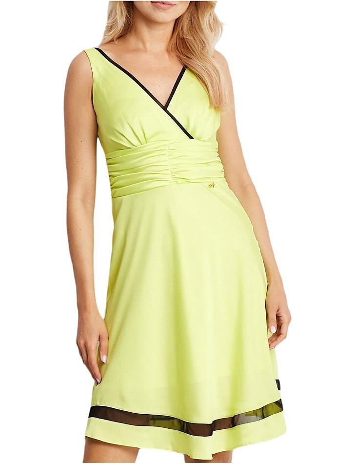 Limetkovej dámske šaty s tylovým pruhom vel. 40