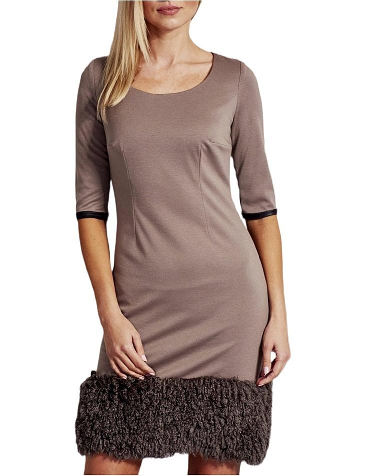 Dámske hnedé šaty vel. 38