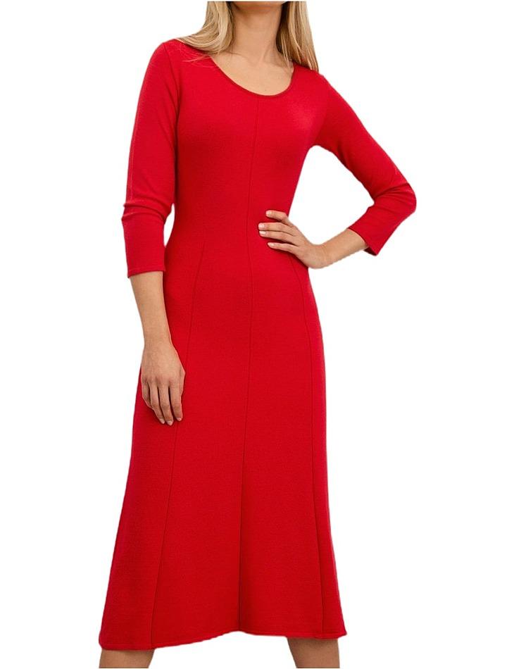 červené dámske šaty vel. L