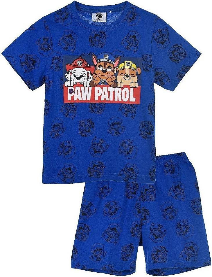 Paw patrol tmavo modré chlapčenské vzorované pyžamo vel. 116
