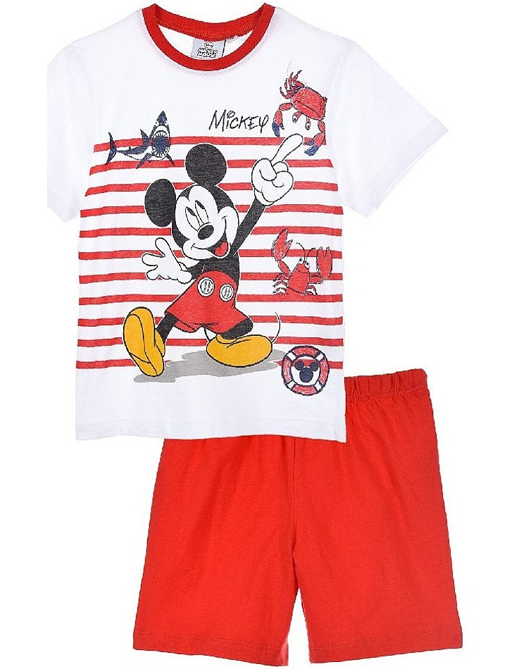 Mickey mouse červeno-biele chlapčenské pyžamo vel. 116
