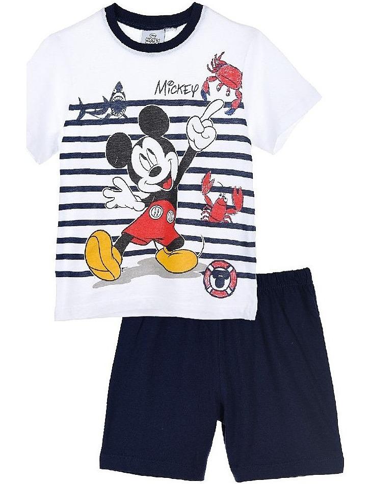 Mickey mouse modro-biele chlapčenské pyžamo vel. 116