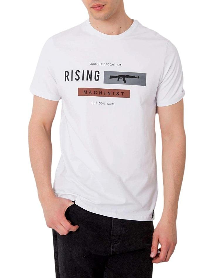 Biele pánske tričko rising vel. L