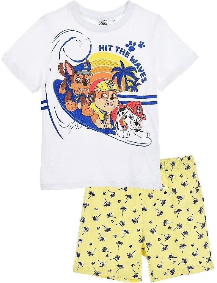 Paw patrol žlto-biele chlapčenské pyžamo vel. 116