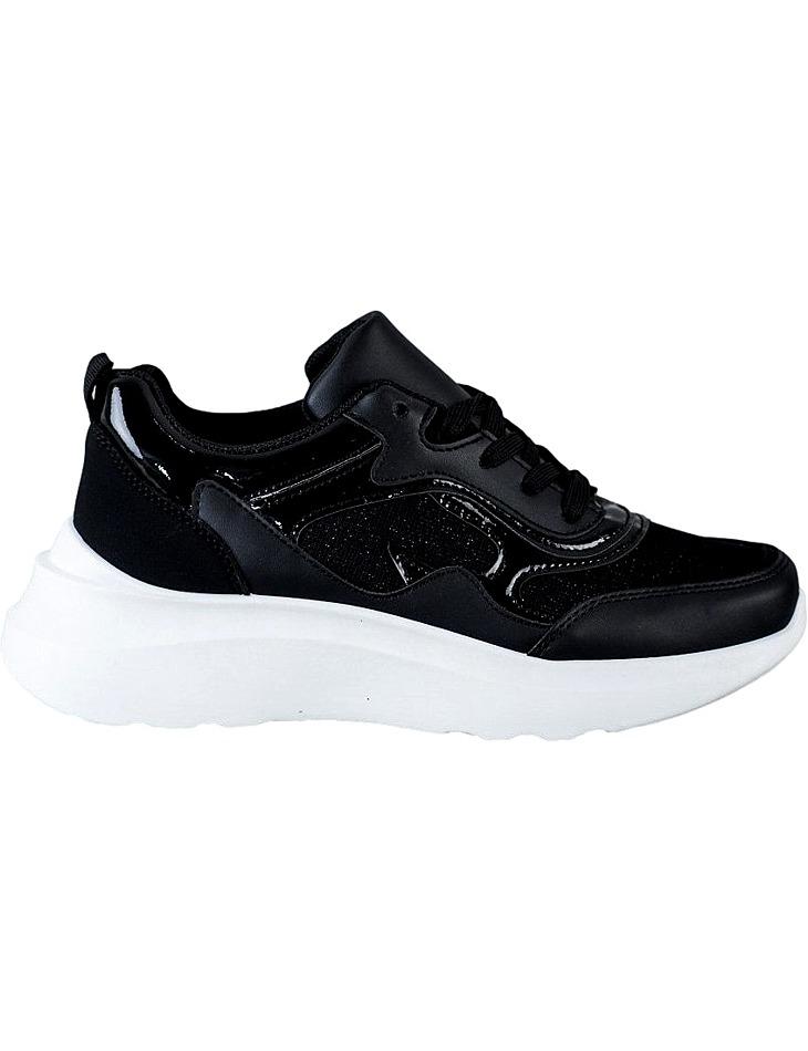 čierne Sneakers s brokátom vel. 36