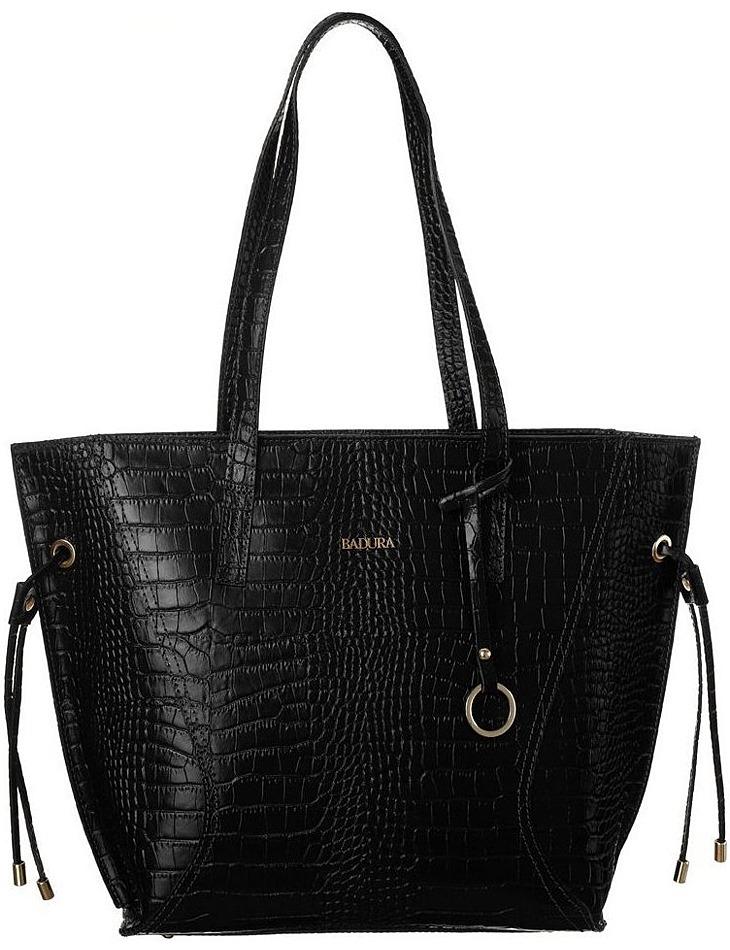 Badura čierna kabelka s krokodílím vzorom vel. ONE SIZE