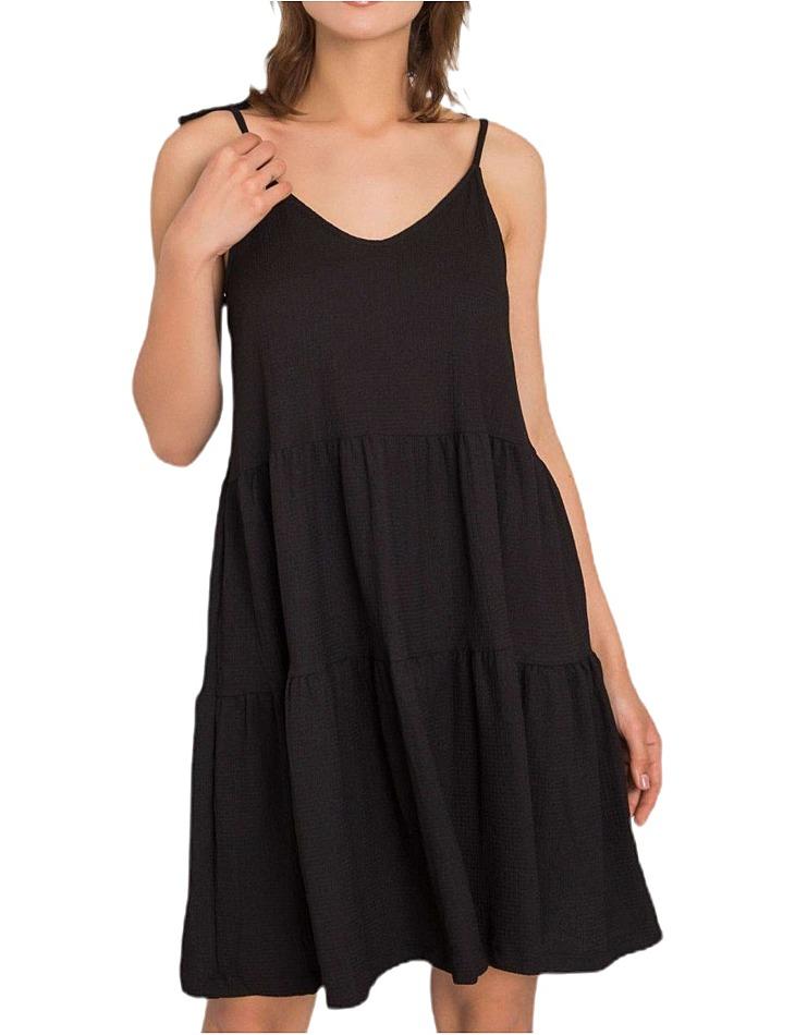 čierne dámske šaty na ramienka vel. L