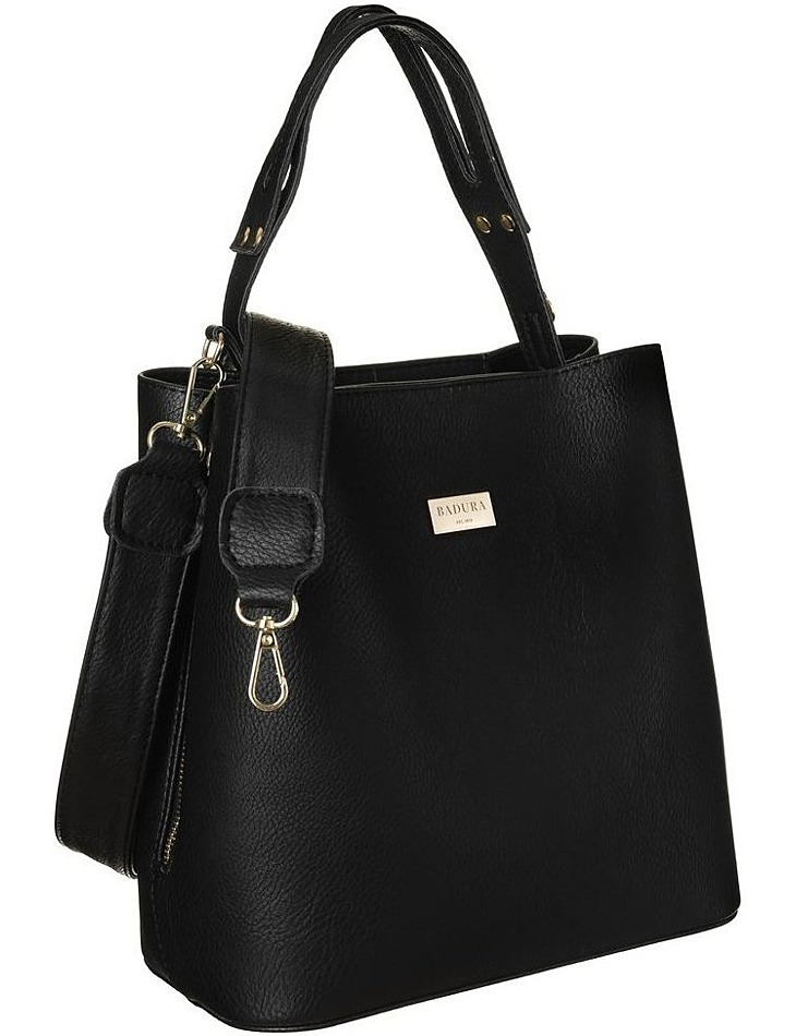 Badura čierna kabelka s organizérom ba / 008 as black vel. ONE SIZE