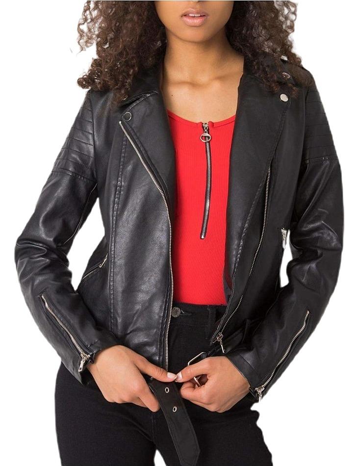 čierna dámska koženková bunda vel. S