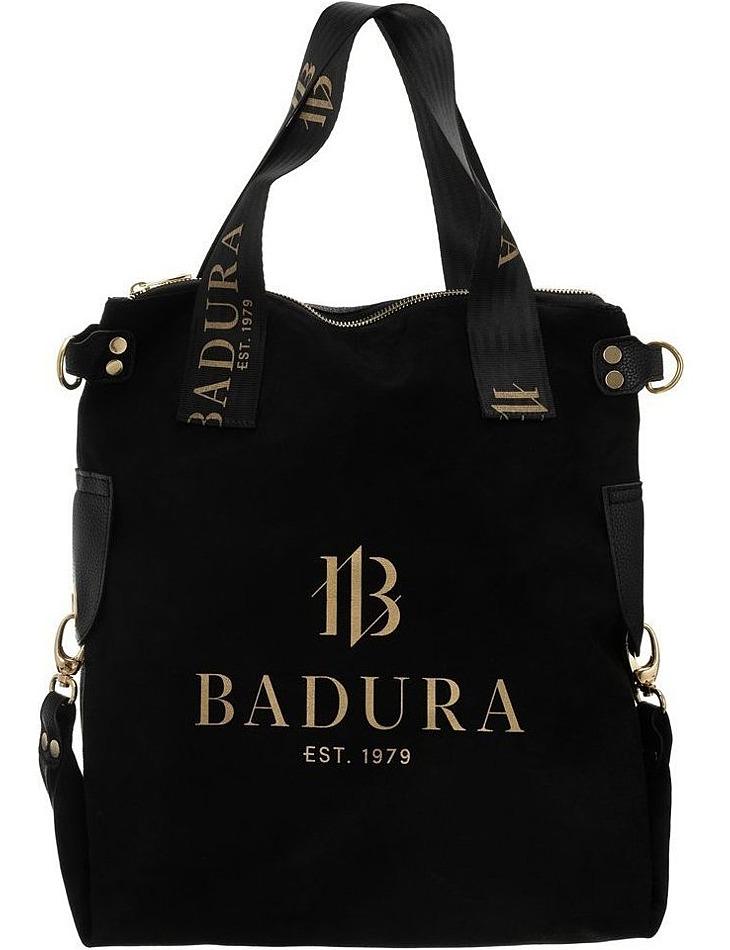 Badura čierna kabelka s nápisom vel. ONE SIZE