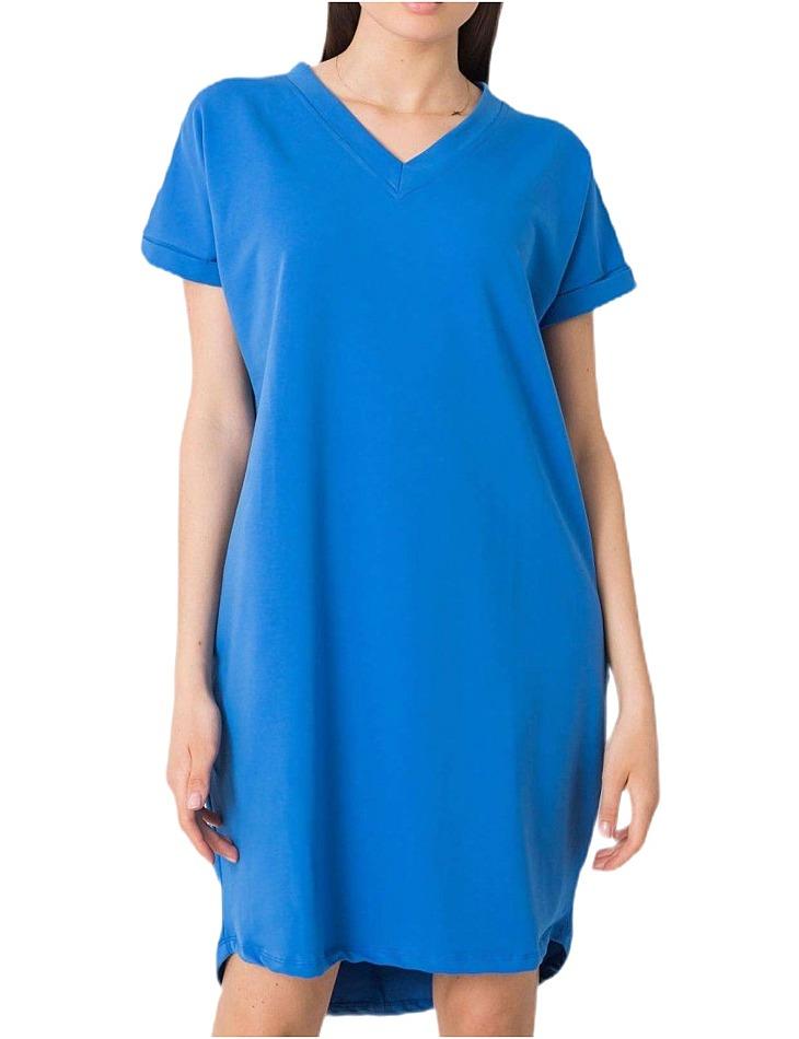 Modré dámske basic šaty vel. M