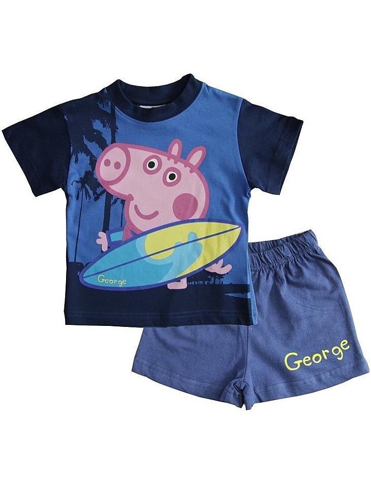 Tmavo modré chlapčenské pyžamo peppa pig vel. 116