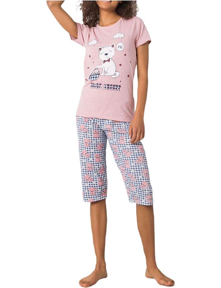 Ružové dámske pyžamo good night vel. XL