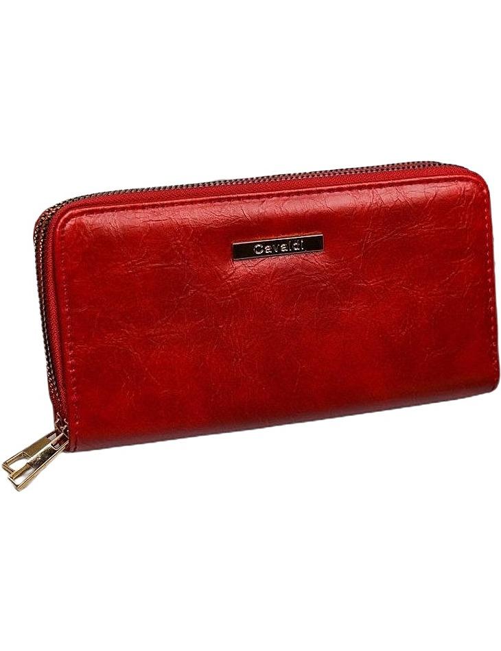Cavaldi červená priestranná peňaženka s vreckom na telefón vel. ONE SIZE
