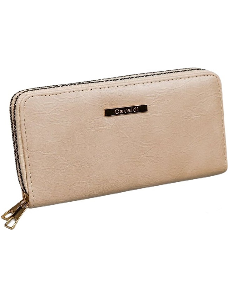 Cavaldi béžová peňaženka na zips vel. ONE SIZE