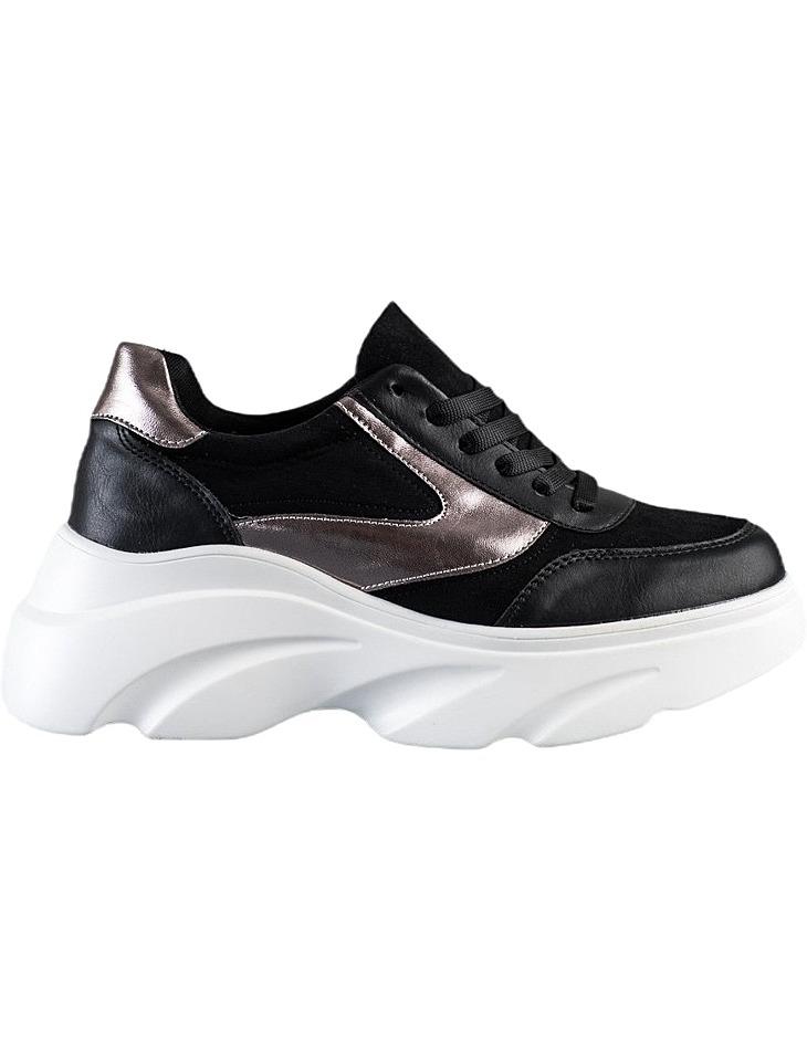 čierne Sneakers na platforme vel. 36