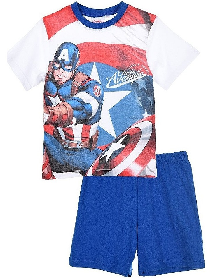 Avengers marvel captain america modré chlapčenské pyžamo vel. 116